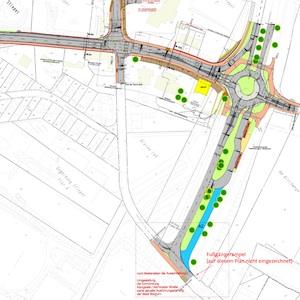 Plan: Kreisverkehr Bochum-Stiepel
