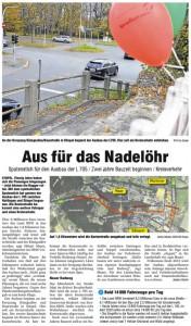 Ruhr Nachrichten Bochum: Aus für das Nadelöhr
