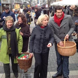 Sylvia Löhrmann, Hannelore Kraft und Thomas Eiskirch