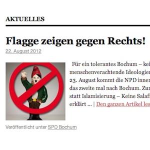 SPD Bochum: Flagge zeigen gegen Rechts!