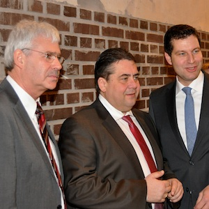 Dr. Peter Reinirkens, Sigmar Gabriel und Thomas Eiskirch