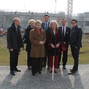 SPD-Landtagsabgeordnete besichtigen hsg-Baustelle