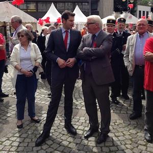 Frank-Walter Steinmeier und Thomas Eiskirch im Gespräch