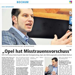 Ruhr Nachrichten (02.06.2013): Thomas Eiskirch im Interview
