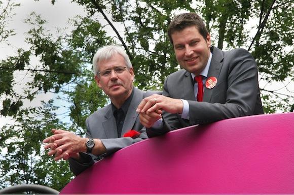 Dr. Peter Reinirkens (Vorsitzender der SPD-Ratsfraktion) und MdL Thomas Eiskirch