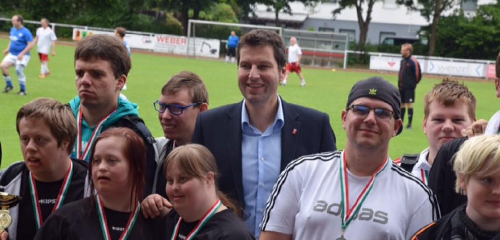 Inklusion durch Sport - mit MdL Thomas Eiskirch (Bild: Lebenshilfe Bochum)