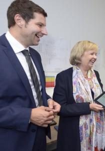 Thomas Eiskirch und Hannelore Kraft zu Besuch bei PHYSEC