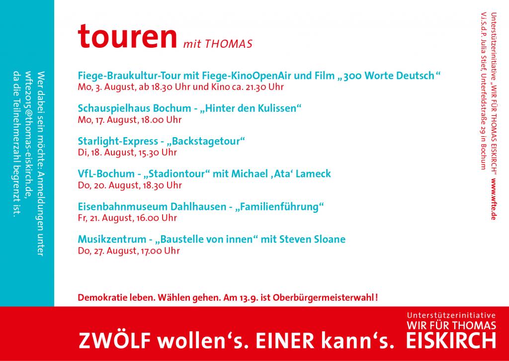 Touren mit Thomas (Wir für Thomas Eiskirch) Rückseite