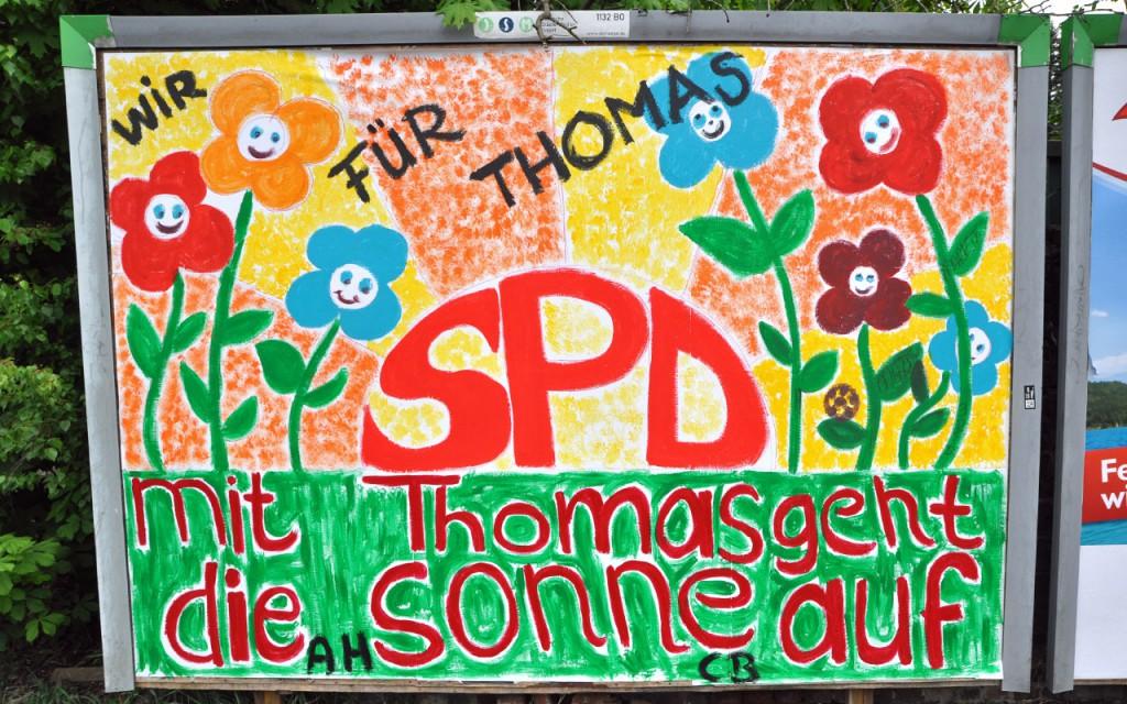 Wir für Thomas Eiskirch Blumenplakat