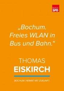 """""""Bochum. Freies WLAN in Bus und Bahn."""" (Wahlplakat aus dem Jahr 2015)"""