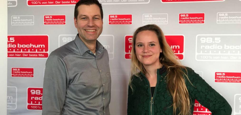 Thomas Eiskirch beim Radio Bochum-Klartalk mit Janina Amrath (Foto: Radio Bochum)