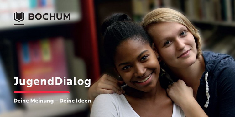 Einladung zum JugendDialog. Foto: Stadt Bochum, Referat für politische Gremien, Bürgerbeteiligung und Kommunikation