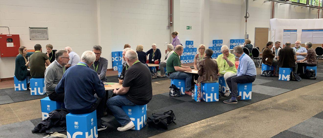 (Bürgerkonferenz 2019: Mobilität von Morgen) Das Mobilitätsspiel wird in vielen Runden gespielt