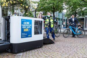 Zur Kampagne gehört auch eine Gratis-Fahrradwäsche Foto: Lutz Leitmann/Stadt Bochum