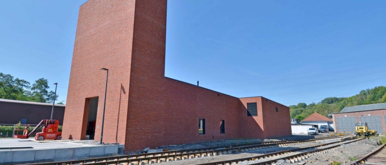 Das neue Empfangsgebäude des Eisenbahnmuseums ist fertiggestellt und wurde jetzt offiziell dem Museum übergeben.