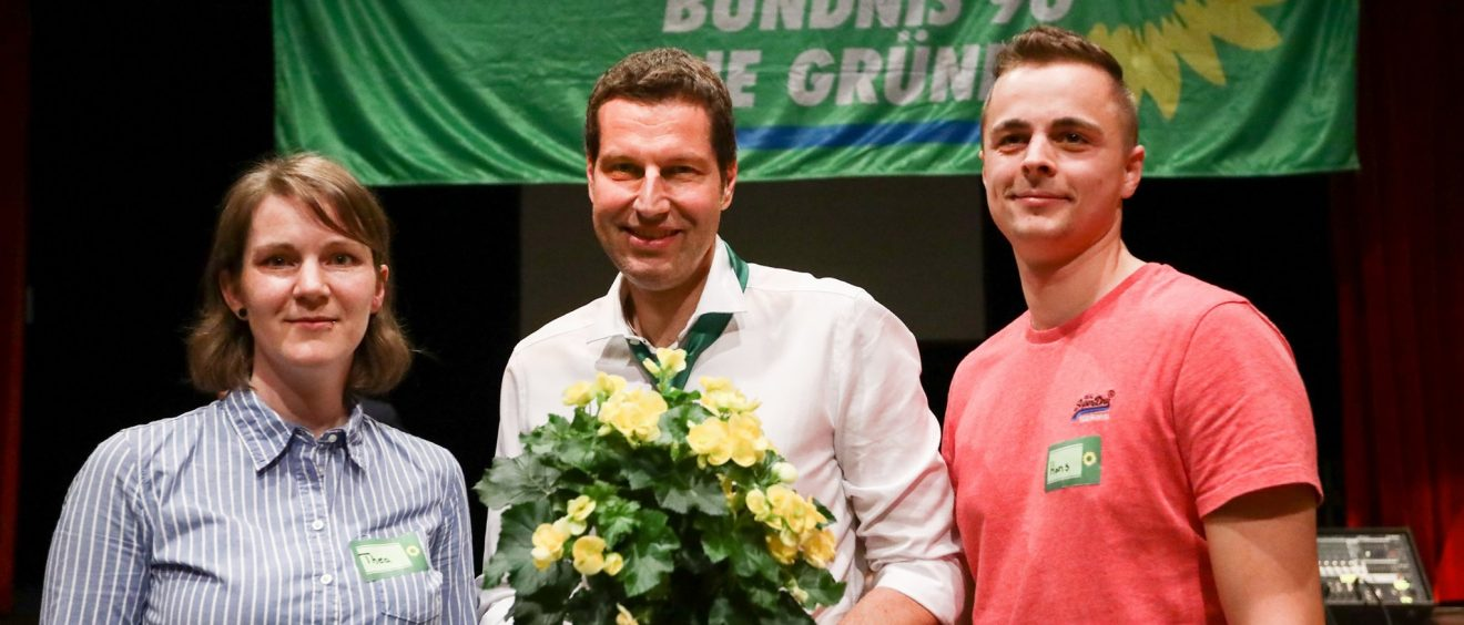 Grüne Bochum: Thea Jacobs, Thomas Eiskirch und Hans Bischoff - Bildquelle: https://www.facebook.com/gruene.bochum/photos/a.773473782693510/3338396556201207/?type=3&theater